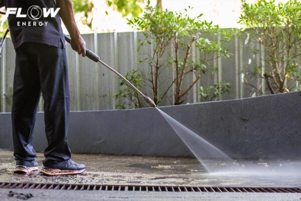 ล้างพื้น ด้วยเครื่องฉีดน้ำ FLOW ENERGY
