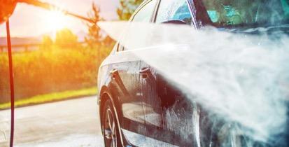 ล้างรถเองด้วยเครื่องฉีดน้ำ